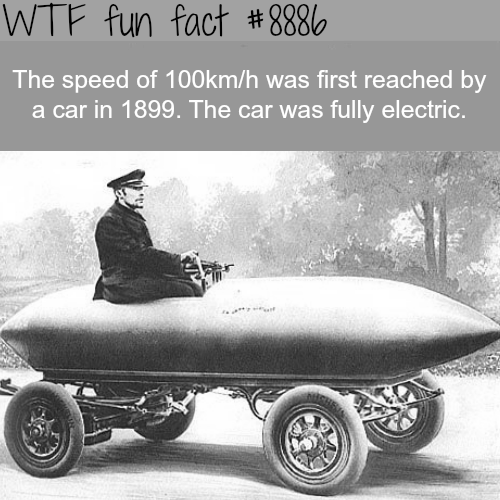 The history of electric cars - WTF fun facts