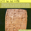 the history of writing wtf fun facts