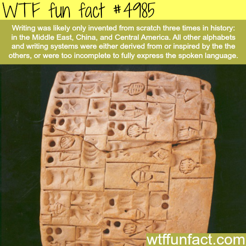 The history of writing - WTF fun facts