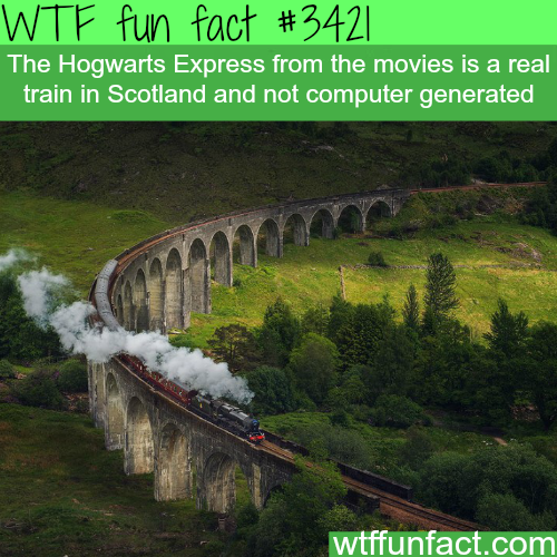 The Hogwarts express (Cathedral express) in Scotland -  WTF fun facts