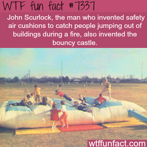 The inventor bouncy castle - WTF fun fact