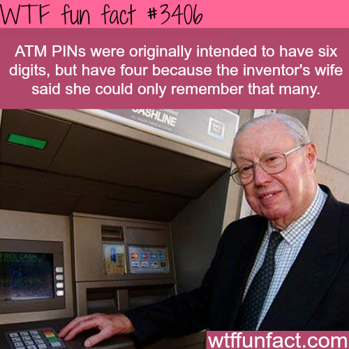 The inventor of the ATM -  WTF fun facts