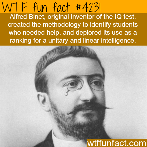 The inventor of the IQ test -  WTF fun facts