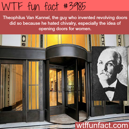The inventor of the revolving door - WTF fun facts