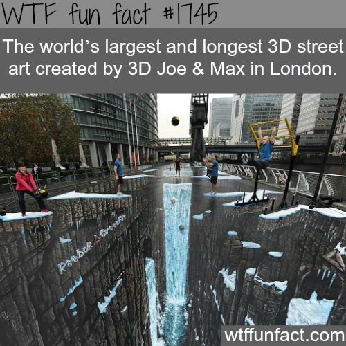 The largest and longest 3D street art - WTF fun facts