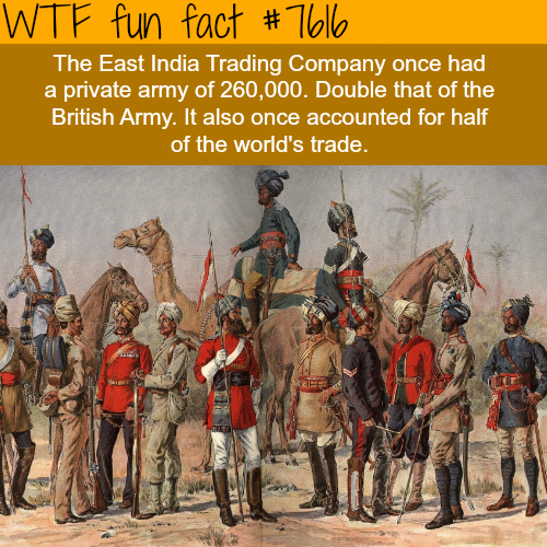The largest company in history - WTF fun facts