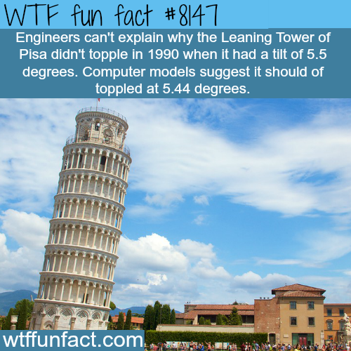 The leaning tower of Pisa - WTF fun fact