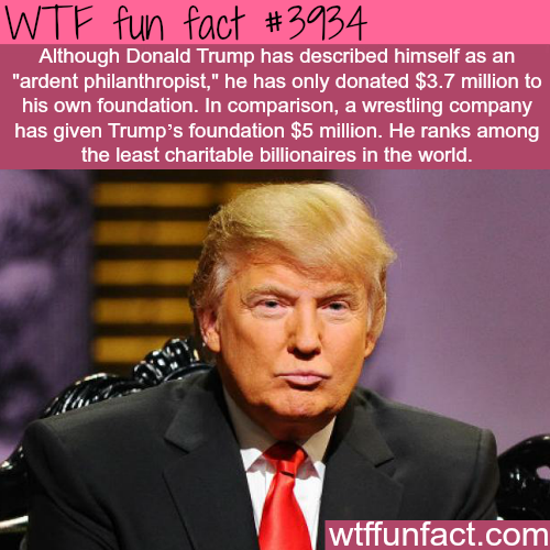 The least charitable billionaires - WTF fun facts