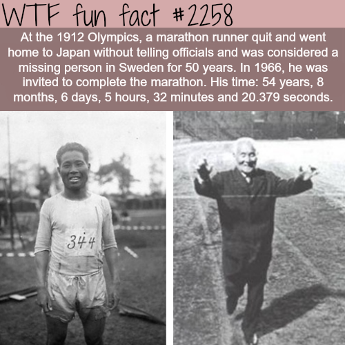 The longest marathon time - WTF fun facts