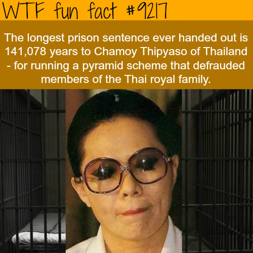 The longest prison sentence - WTF Fun Fact