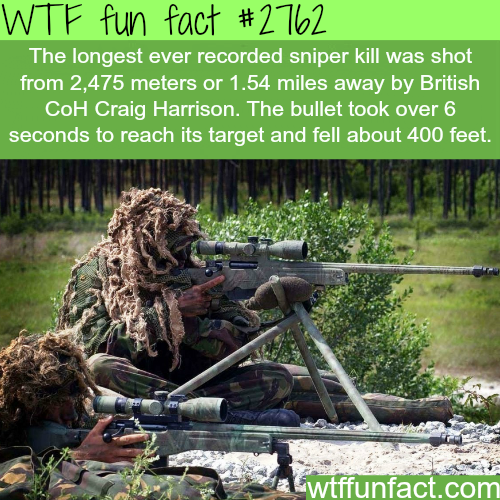 The longest recorded sniper kill - WTF fun facts