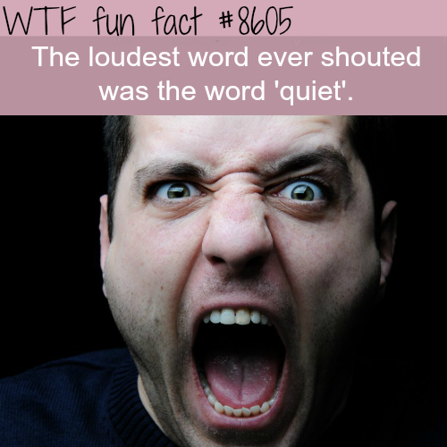 The loudest word ever shouted - WTF fun facts