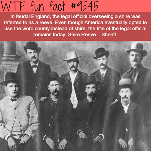 The meaning behind the word Sheriff - WTF fun fact