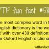 the most complex english word wtf fun facts
