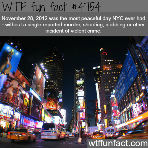The most peaceful day in NYC - WTF fun facts