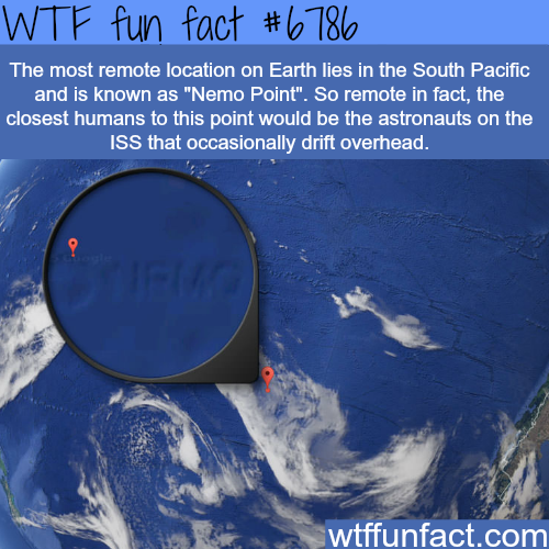 The most remote location on Earth - WTF fun fact