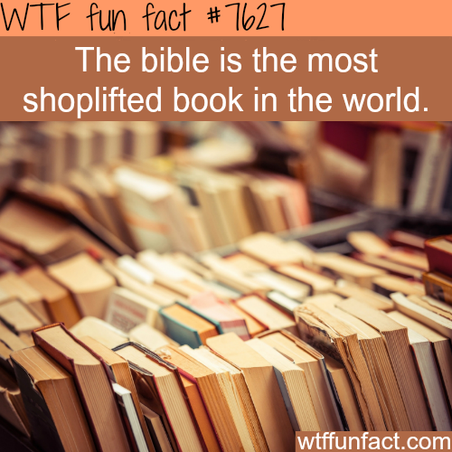 The most shoplifted book - WTF fun facts