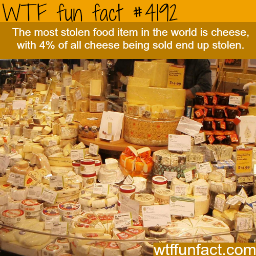 The most stolen food item -  WTF fun facts