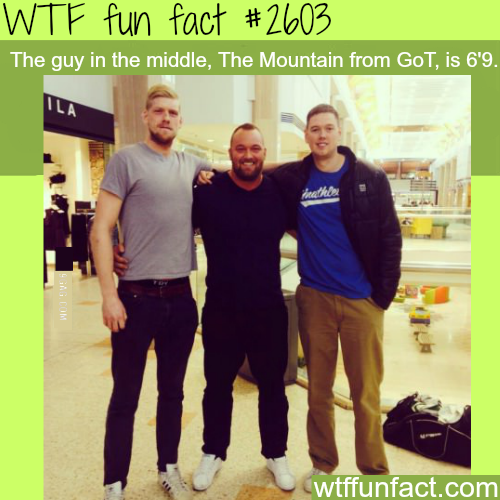 The Mountain from Game of Thrones height - WTF fun facts