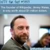 the net worth of the founder of wikipedia jimmy