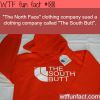 the north face and the south butt