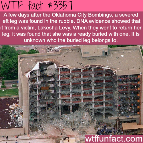 The Oklahoma city bombings -  WTF fun facts