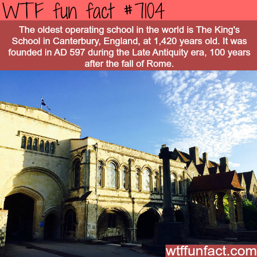 The oldest operating school in the world - WTF fun facts