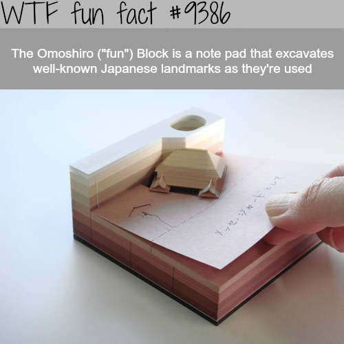 The Omoshiro Note Pads- WTF fun facts