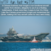 the only aircraft carrier owned by china wtf fun