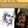 the original costume idea for jack sparrow
