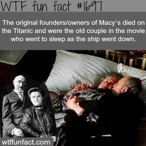 The original founders of Mayc's died in the titanic - WTF fun facts