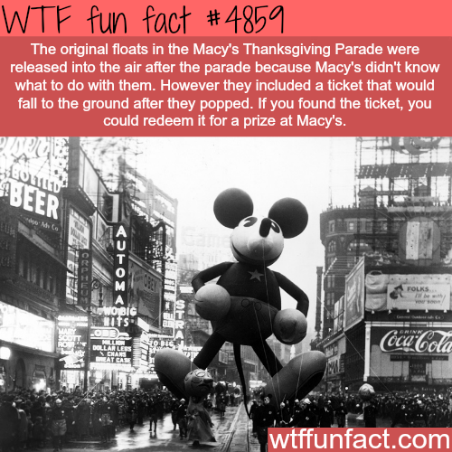 The original Macy's Thanksgiving Parade - WTF fun facts