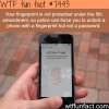 the police can force you to unlock your phone