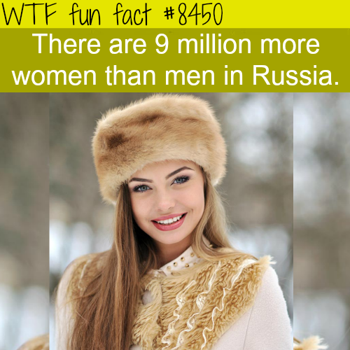 The population of Russia - WTF fun facts