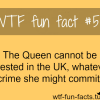 the queen cant be arrested