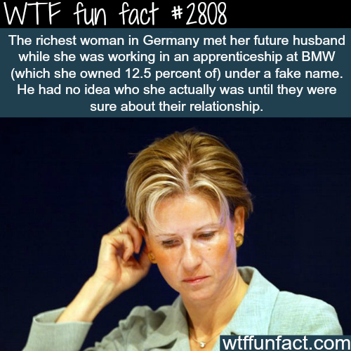 The richest woman in Germany -WTF fun facts