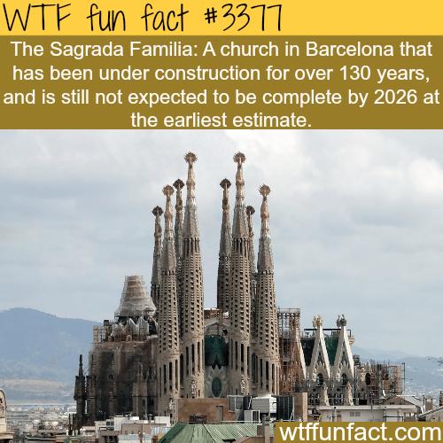 The Sagrada Familia church in Barcelona - WTF fun facts