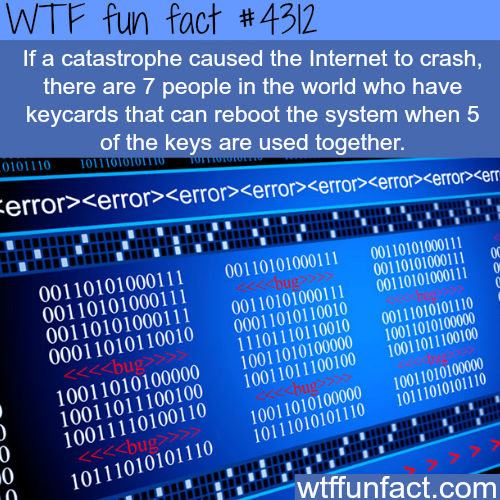 The seven keys of the internet -  WTF fun facts