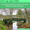 the shortest international bridge in the world