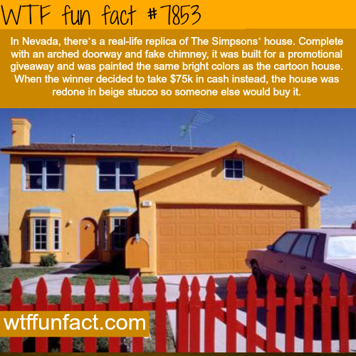 The Simpsons' house in Nevada - WTF fun facts