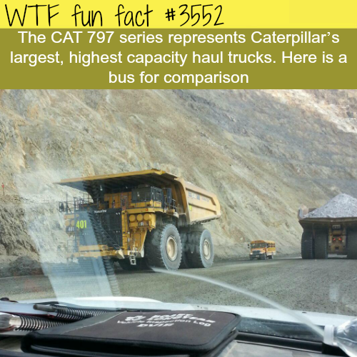 The size of the Caterpillar 747- WTF fun facts