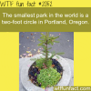 the smallest park in the world