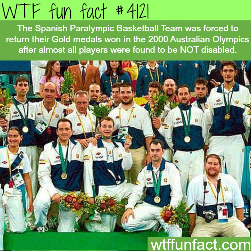 The Spanish team that faked disability to get into the Paralympic -  WTF fun facts