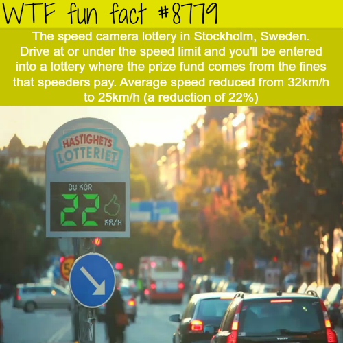 The speed cameras lottery - WTF fun facts