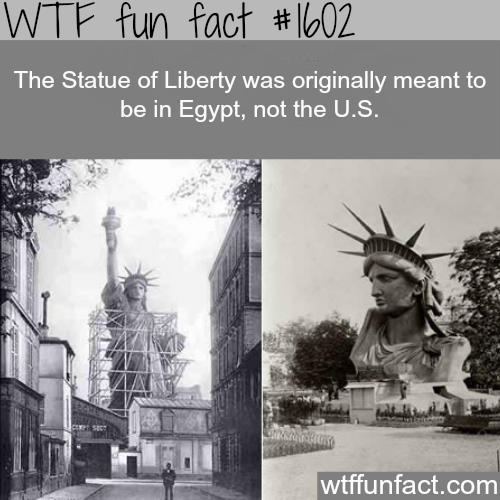 The statue of liberty real story - WTF fun facts