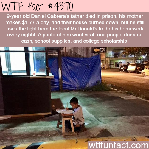 The story of 9-year old Daniel Cabrera -   WTF fun facts