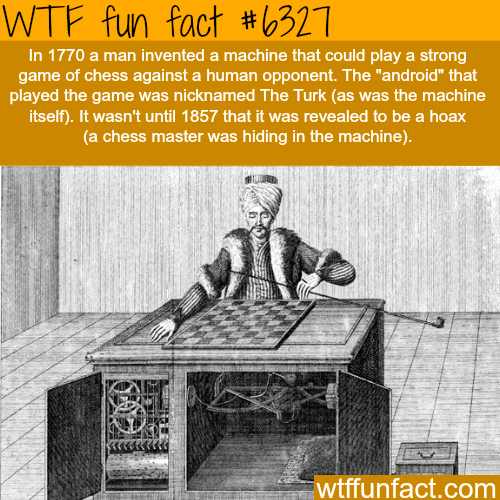 The Turk chess master - WTF fun facts