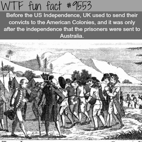 The UK sent thousands of its prisonersto the U.S. - WTF fun fact