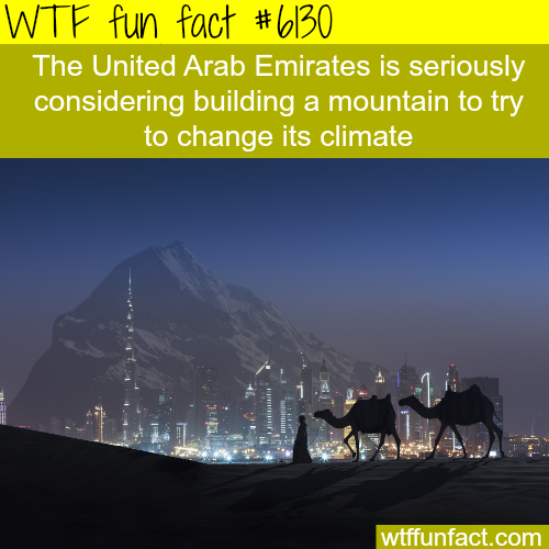 The United Arab Emirates wants to build a mountain - WTF fun facts