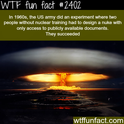 The US army experiment -WTF funfacts
